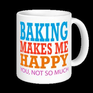 Baking Mugs - Baking Makes Me Happy