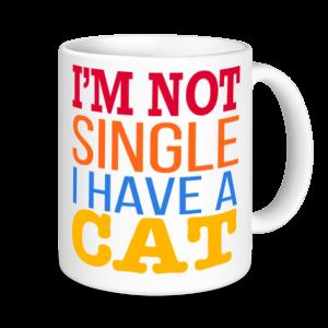 Cat Mugs - I'm Not Single I have A Cat
