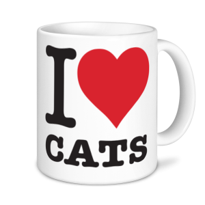 Cat Mugs - I Love Cats