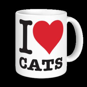 Cat Mugs - I Love Cats