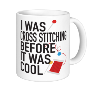Cross Stitch Mugs - Before It Was Cool