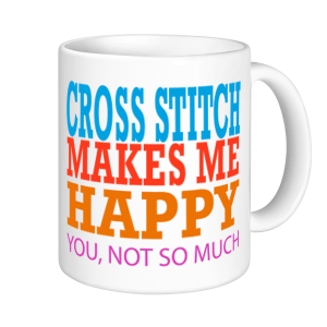 Cross Stitch Mugs - Cross Stitch Makes Me Happy