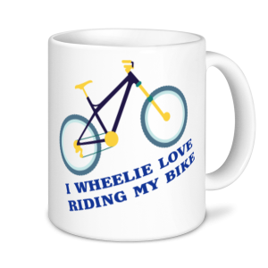 Cycling Mugs - I Wheelie Love Riding My Bike