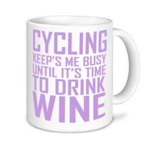 Cycling Mugs - Cycling Keeps Me Busy Until It's Time For Wine