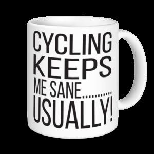 Cycling Mugs - Cycling Keeps Me Sane