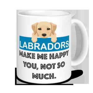 Dog Mugs - Labradors Make Me Happy