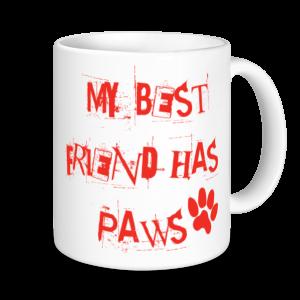 Dog Mugs - My Best Friend Has Paws