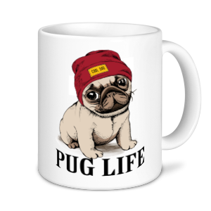 Dog Mugs - Pug Life