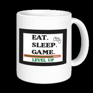 Gaming Mugs - Eat, Sleep Game...Level UP
