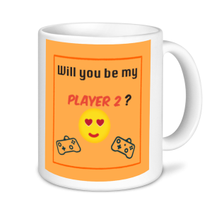 Gaming Mugs - Will You Be My Player 2