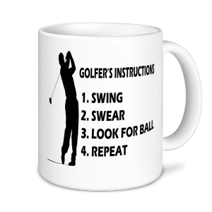 Golf Mugs - Golfing Instructions