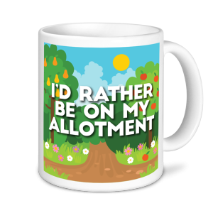 Gardening Mugs - I'd Rather be on My Allotment