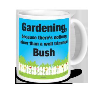 Gardening Mugs - Well Trimmed Bush
