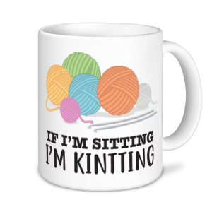 Knitting Mugs - If I'm Sitting I'm Knitting 2