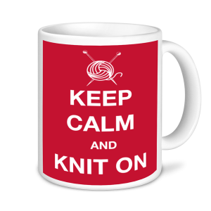 Knitting Mugs - Keep Calm And Knit On.