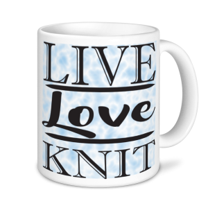 Knitting Mugs - Live, Love, Knit