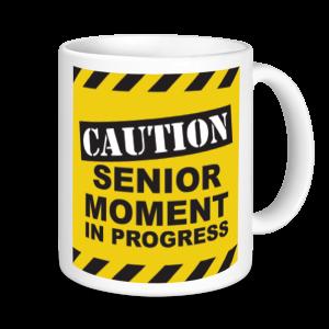 Retirement Mugs - Caution Senior Moment