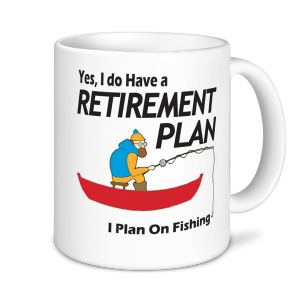 Retirement Mugs - I plan On Fishing