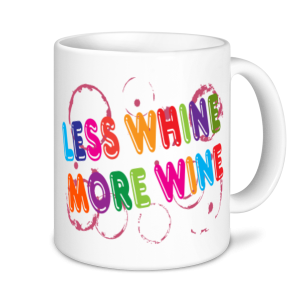 Wine Mugs - Less Whine More Wine