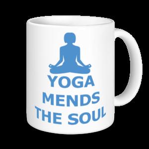 Yoga Mugs - Yoga Mends The Soul