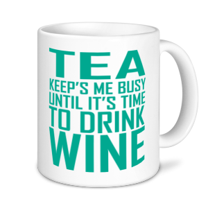 Alcohol Mugs - Tea Keeps Me Busy....