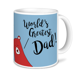Fathers Day World's Greatest Dad brown bear bears