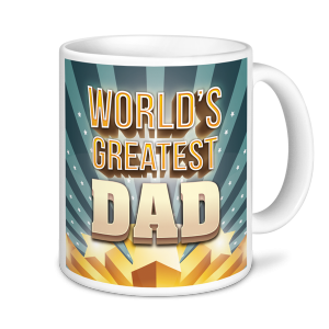 Dad Mug - World's Greatest Dad - Stars