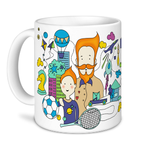 Father's Day Mug - Father... Funny, Athletic, Terrific, Handsome, Exceptional, Reliable