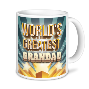 Grandad Mug - World's Greatest Grandad- Stars