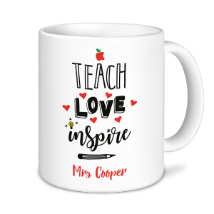 Teacher Mug - Teach Love Inspire