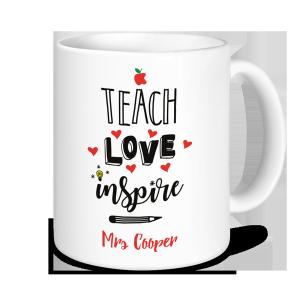 Teacher Mug - Teach Love Inspire