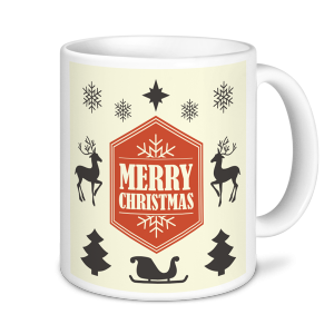 Christmas Mugs - Merry Christmas -Cream