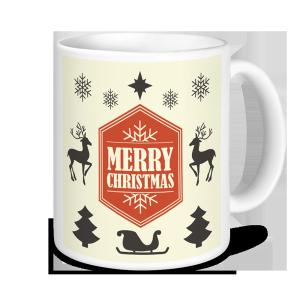 Christmas Mugs - Merry Christmas -Cream