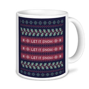 Christmas Mug - Let it Snow Purple